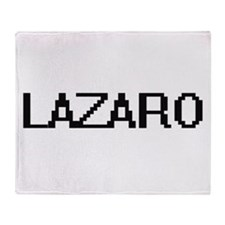Lazaro Digital Name Design Throw Blanket