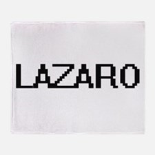 Lazaro Digital Name Design Throw Blanket