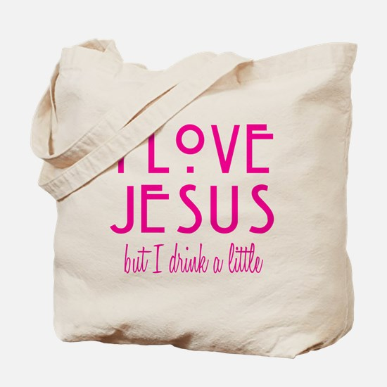 Pink Love Jesus Drink Tote Bag