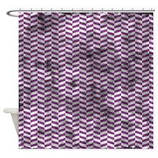 Grungy Purple Herringbone Shower Curtain
