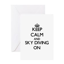 Keep Calm and Sky Diving ON Greeting Cards