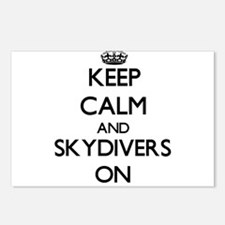 Keep Calm and Skydivers O Postcards (Package of 8)