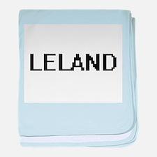 Leland Digital Name Design baby blanket