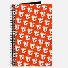 Lobster Silhouette Orange Philippe's Fave Journal