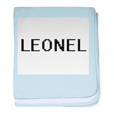 Leonel Digital Name Design baby blanket