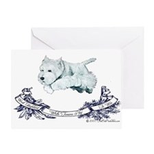 Westhighland Agility Terrier Greeting Card