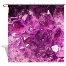 Amethyst geode crystal druse druzy  Shower Curtain