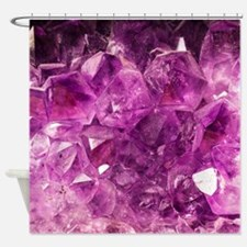 Amethyst geode crystal druse druzy  Shower Curtain