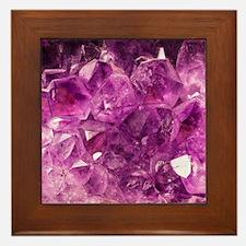 Amethyst geode crystal druse druzy  Framed Tile
