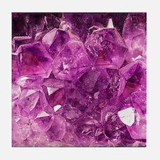 Amethyst geode crystal druse druzy  Tile Coaster