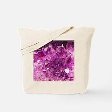 Amethyst geode crystal druse druzy  Tote Bag