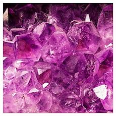 Amethyst geode crystal druse druzy  Poster