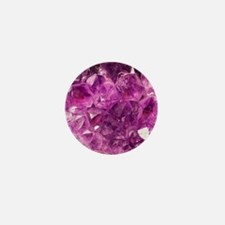 Amethyst geode crystal druse druzy  Mini Button