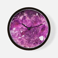 Amethyst geode crystal druse druzy  Wall Clock