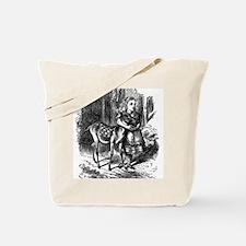 vintage alice in wonderland deer fawn Tote Bag