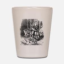 vintage alice in wonderland deer fawn Shot Glass