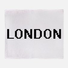 London Digital Name Design Throw Blanket
