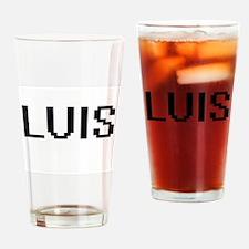 Luis Digital Name Design Drinking Glass