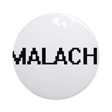 Malachi Digital Name Design Ornament (Round)