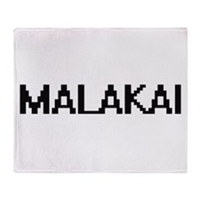 Malakai Digital Name Design Throw Blanket