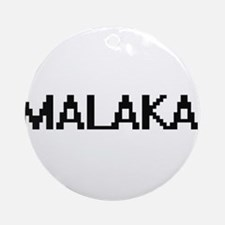 Malakai Digital Name Design Ornament (Round)