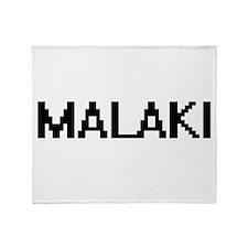 Malaki Digital Name Design Throw Blanket