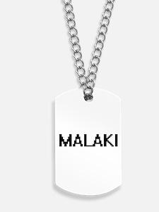 Malaki Digital Name Design Dog Tags
