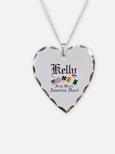 Unique Irish american Necklace Heart Charm