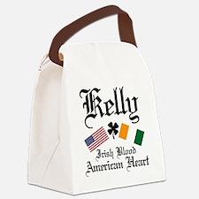 Cute Irish american Canvas Lunch Bag