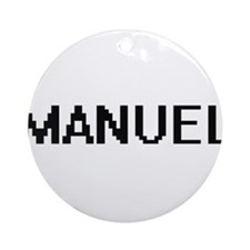 Manuel Digital Name Design Ornament (Round)
