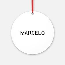 Marcelo Digital Name Design Ornament (Round)