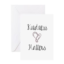 Kindness Matters Heart Greeting Cards