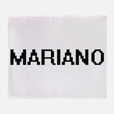 Mariano Digital Name Design Throw Blanket