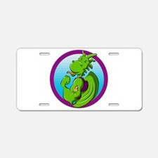 Dragon with the hula dancer Aluminum License Plate