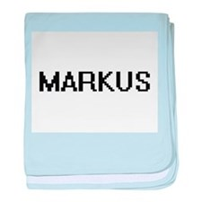 Markus Digital Name Design baby blanket