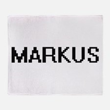 Markus Digital Name Design Throw Blanket