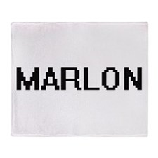 Marlon Digital Name Design Throw Blanket