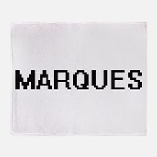Marques Digital Name Design Throw Blanket
