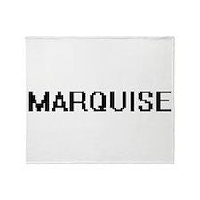 Marquise Digital Name Design Throw Blanket