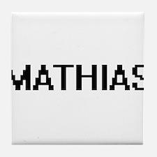 Mathias Digital Name Design Tile Coaster