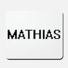 Mathias Digital Name Design Mousepad