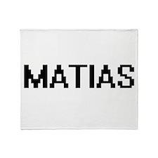 Matias Digital Name Design Throw Blanket