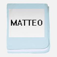 Matteo Digital Name Design baby blanket