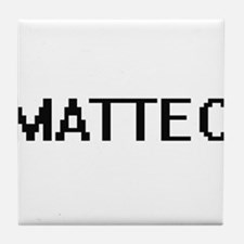 Matteo Digital Name Design Tile Coaster