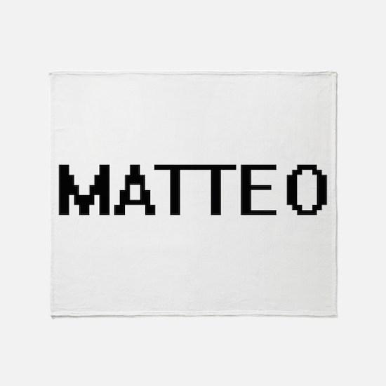 Matteo Digital Name Design Throw Blanket
