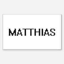 Matthias Digital Name Design Decal