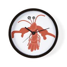 Cartoon Lobster Wall Clock