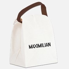 Maximilian Digital Name Design Canvas Lunch Bag