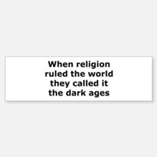 The Dark Ages Bumper Car Car Sticker
