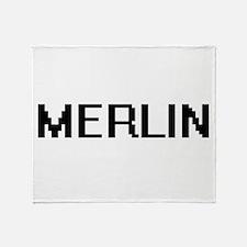 Merlin Digital Name Design Throw Blanket